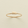 Solid Gold Letter Ring