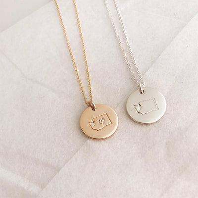 State Disc Necklace- 1/2