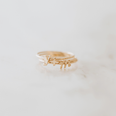 Solid Gold Symbol Ring