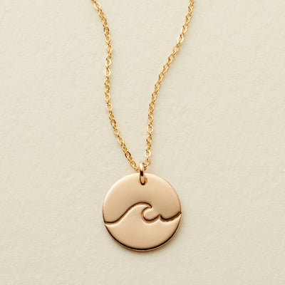 The Wave Disc Necklace - 1/2