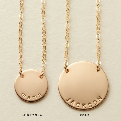 Mini Zola Disc Necklace