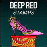 Deep Red Stamps