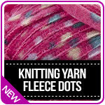 Knitting Yarn Fleece Dots