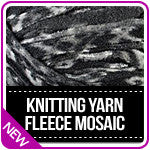 Knitting Yarn Fleece Mosaic