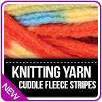 Knitting Yarn Fleece Stripes