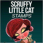 Scruffy Little Cat Stamps