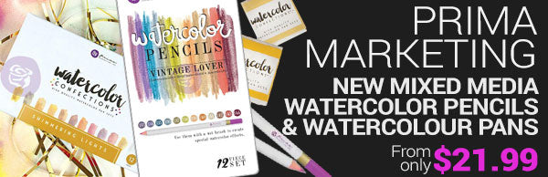 New Prima Marketing Mixed media watercolour pencils and pans - from only $21.99