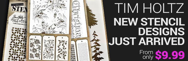 New Tim Holtz stencils - just arrived - from only $9.99
