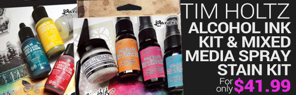 New Tim Holtz alcohol ink kit and mixed media spray stain kits - for only $44.99