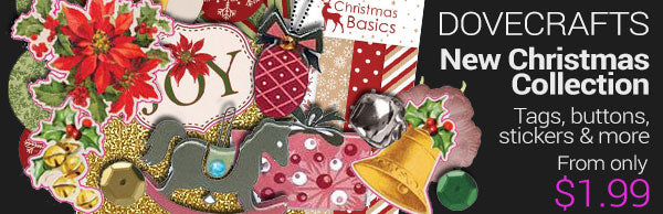New Dovecrafts Christmas collection - new release - from only $1.99