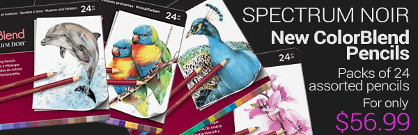 New Spectrum Noir ColorBlend pencils - packs of 24 assorted pencils - for only $56.99