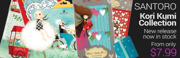 Santoro Kori Kumi - new collection in stock - from only $7.99