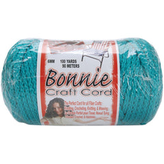 Bonnie Macrame Craft Cord 6mmX100yd - Turquoise