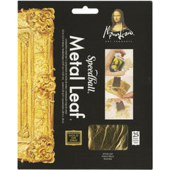 Mona Lisa Metal Leaf Sheets 5.5 inch X5.5 inch 25 pack - Gold