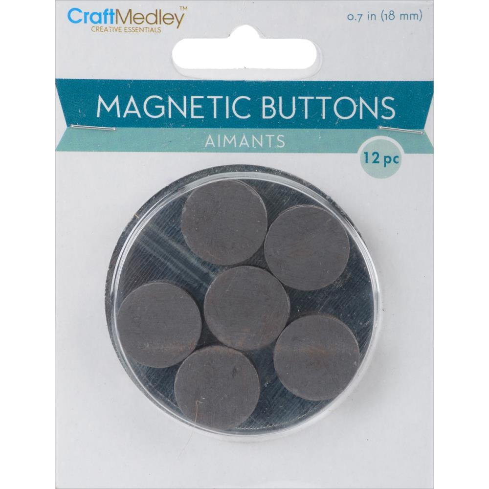 Multicraft Imports - Magnetic Buttons - 12mm 18 pack