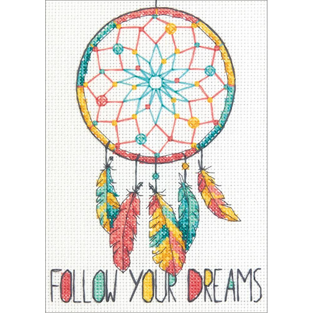 Dimensions Mini Counted Cross Stitch Kit 5inch X7inch Dreamcatcher (14 Count)