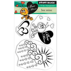 Penny Black Mini Clear Stamp Set - Bee Mine 3inch X4inch