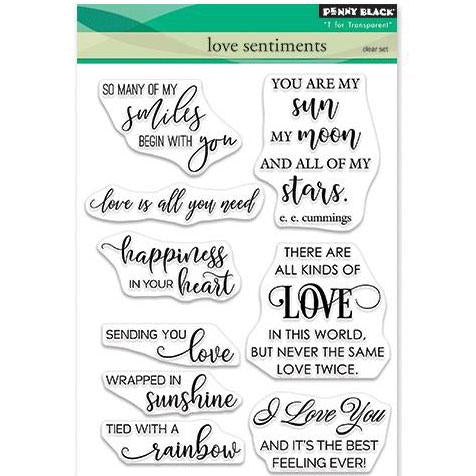 Penny Black Clear Stamps - Love Sentiments 5inch X6.5inch