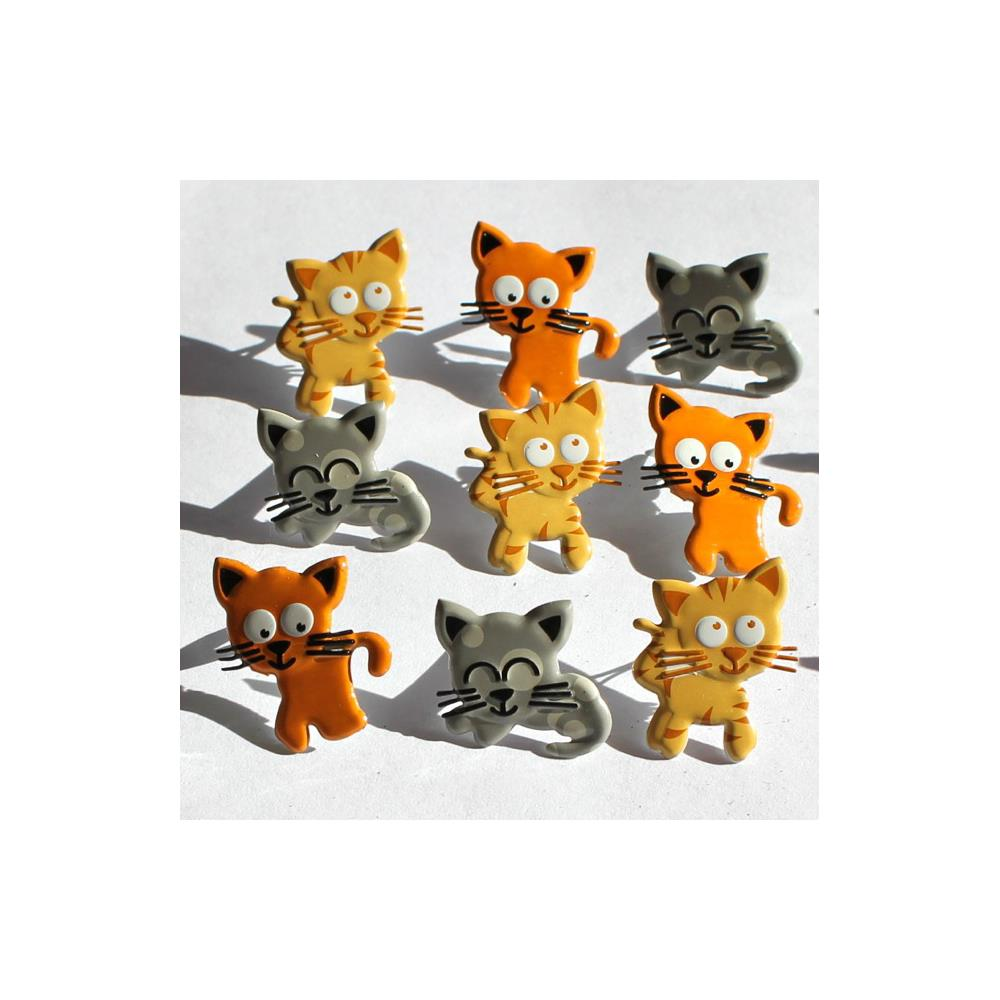 Eyelet Outlet Shape Brads 12/Pkg Kitties
