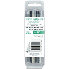 Avery-Fasteners Micro Stitch Fastener Refills 4.4mm White & Black 1,200 pack