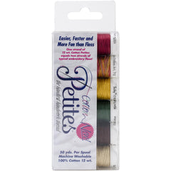 Sulky Sampler 12wt Cotton Petites 6 pack  Autumn Assortment