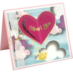 Sizzix Framelits Die & Stamp Set By Lindsey Serata 5 pack I Heart You