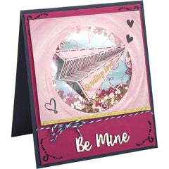 Sizzix Framelits Die & Stamp Set By Lindsey Serata 7/Pkg Paper Airplane Love