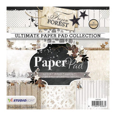 Studio Light Paper Pad 6inch X6inch 36 pack Frozen Forest, 9 Designs/4 Each