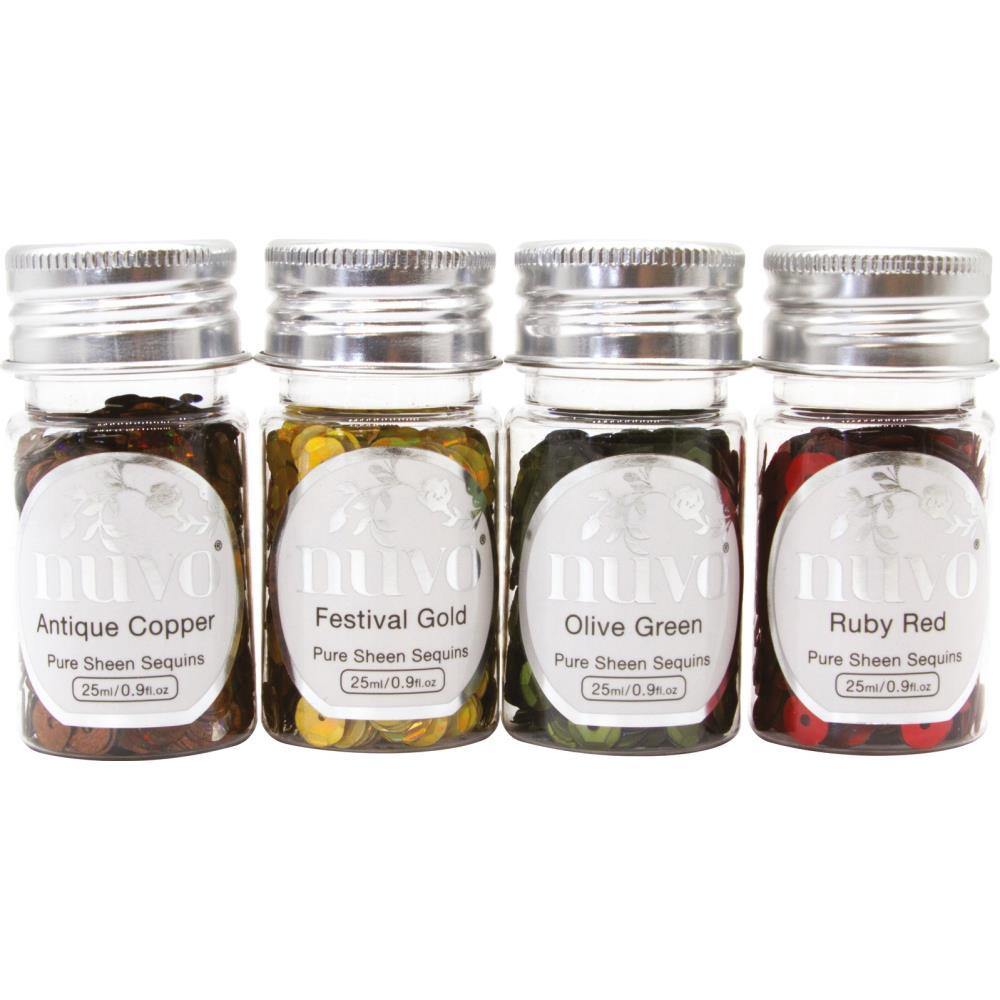 Nuvo Pure Sheen Sequins 4 pack Jingle Bells