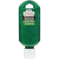 Tulip Dazzling Glitter Brush-On Fabric Paint 2oz - Emerald