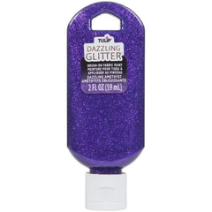Tulip Dazzling Glitter Brush-On Fabric Paint 2oz - Amethyst