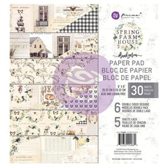 Prima Marketing Double-Sided Paper Pad 8 inch X8 inch 30 pack - Spring Farmhouse, 6 Designs/5 Each