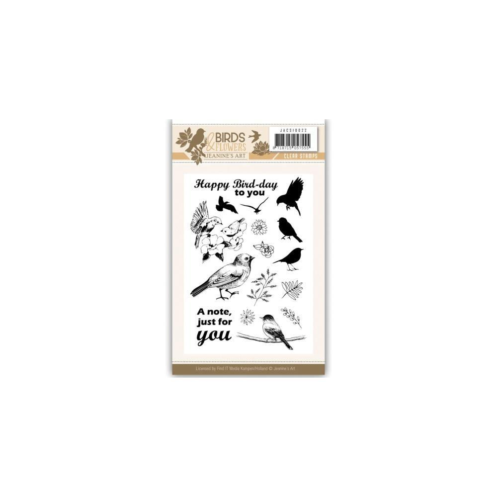 Find It Trading Jeanines Art Clear Stamps - Birds & Flowers No.22
