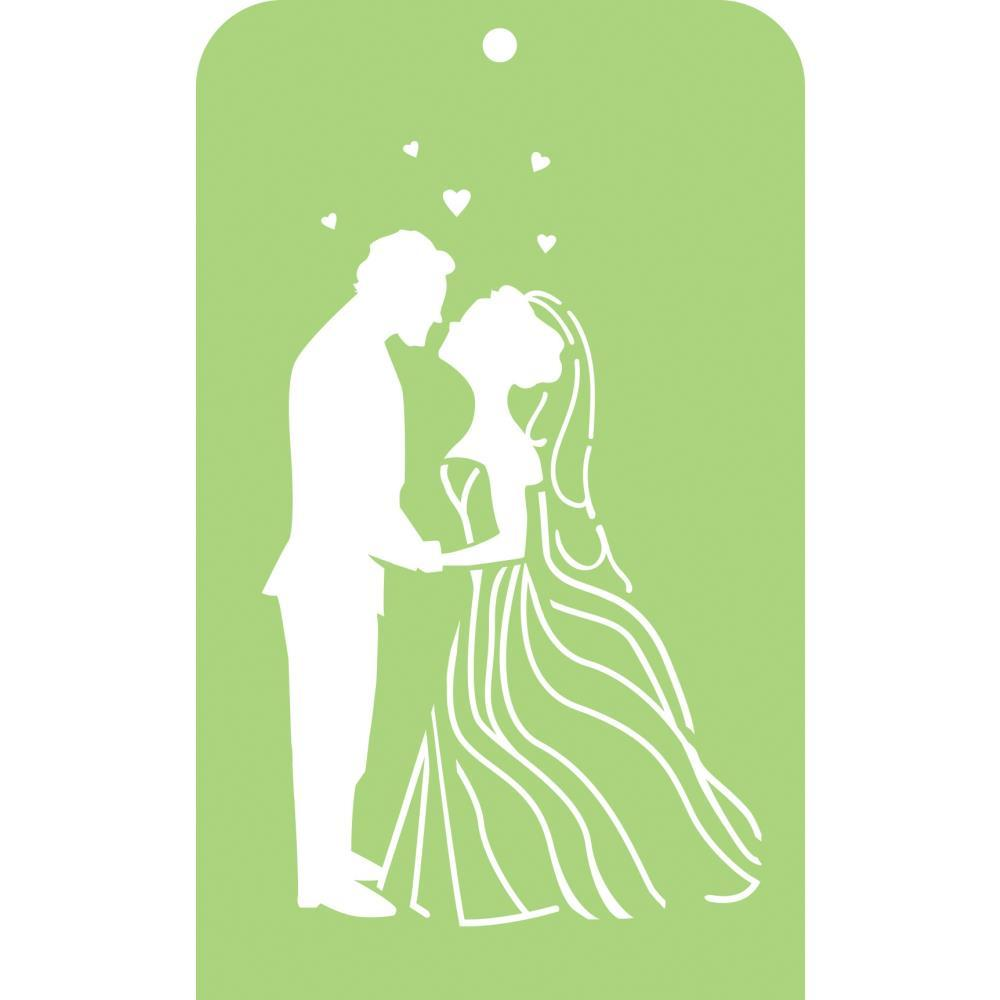 Kaisercraft Mini Designer Templates 3.5 inch X5.75 inch - Bride & Groom