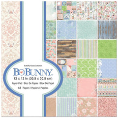 BoBunny Single-Sided Paper Pad 12X12in 48 per pack -Butterfly Kisses, 24 Designs/2 Each