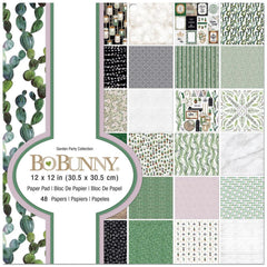 BoBunny Single-Sided Paper Pad 12X12in 48 per pack - Garden Party, 24 Designs/2 Each