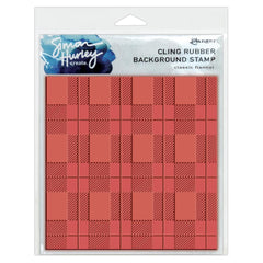 Simon Hurley Create - Cling Stamps 6 inch X6 inch - Classic Flannel