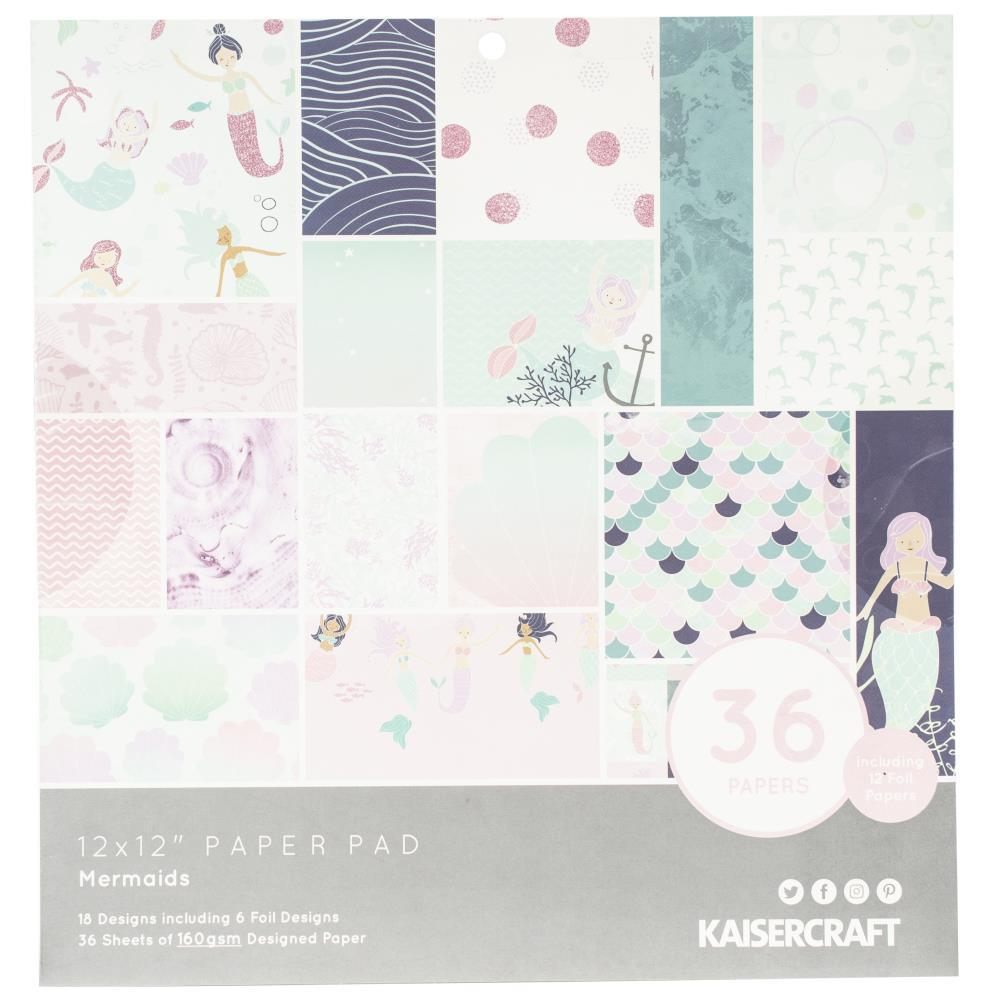 Kaisercraft - Specialty Paper Pad 12 inch X12 inch 36 per pack - Mermaids