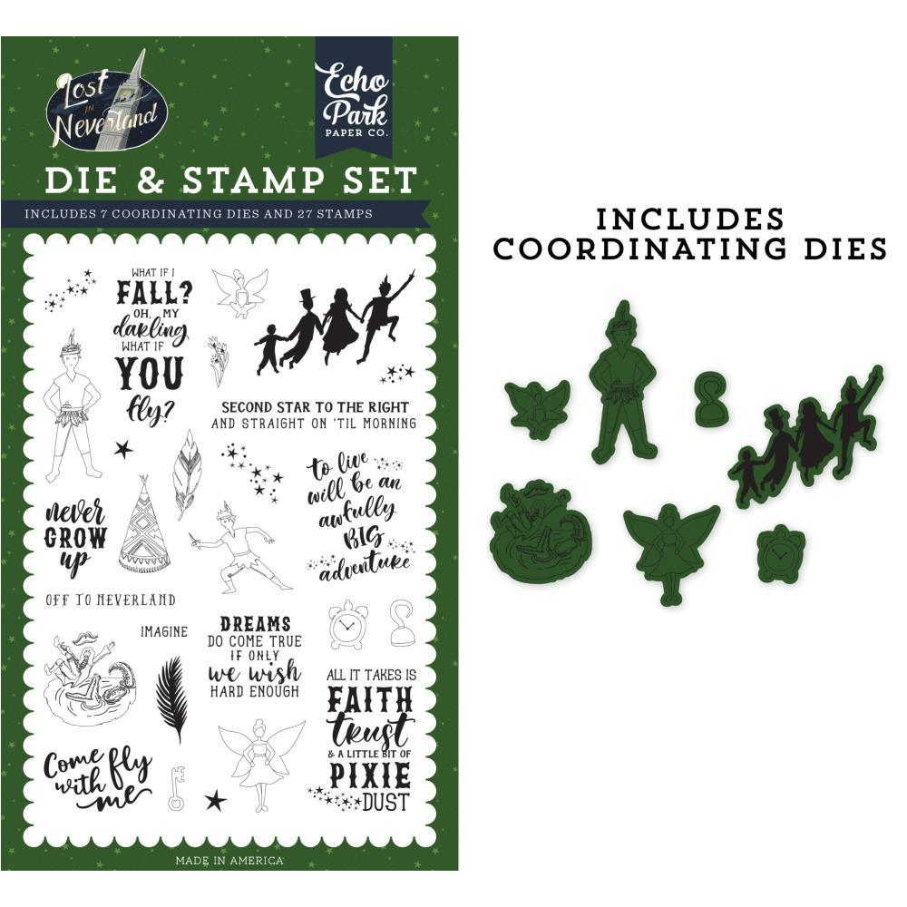 Echo Park Die & Stamp Combo Set - Never Grow Up