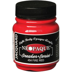 Jacquard Neopaque Acrylic Paint 2.25oz - Fire Red - Sneaker Series