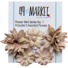 49 and Market Flower Embellishments - Flower Mini Series 01 - Mushroom