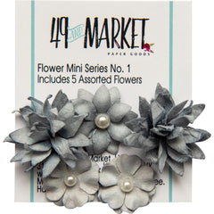 49 and Market Flower Embellishments - Flower Mini Series 01 - Storm