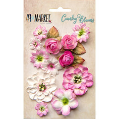 49 and Market Flower Embellishments - Country Blooms - Blush
