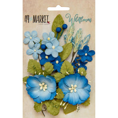 49 and Market Flower Embellishments - Wildflowers - Cobalt