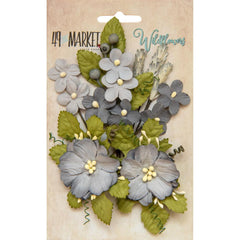 49 and Market Flower Embellishments - Wildflowers - Storm
