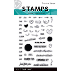Photo play - Photopolymer 4x6 inch Stamps  - Directional