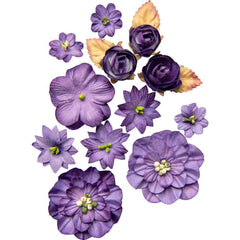 49 and Market Flower Embellishments - Country Blooms - Violet