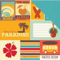 EchoPark - Island Paradise Double-Sided Cardstock 12X12in - Journaling Cards
