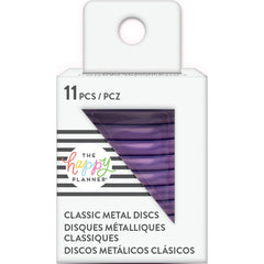 Me & My Big Ideas Happy Planner Medium Metal Expander Discs 11 pack - Violet