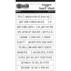 Dyan Reaveley's Dylusions Bigger Back Chat Stickers - White